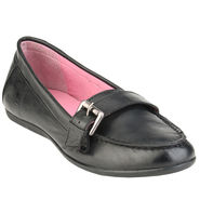 Delize Leather Womens Loafers 7752-Black