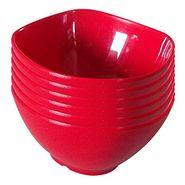 12 Pc Sq Rnd Soup Bowl W/Spoon Set - Night Tulip