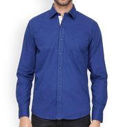 Crosscreek Full Sleeves Cotton Casual Shirt_321 - Blue