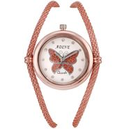 Adine Round Dial Analog Watch For Women_Ad1008 - White