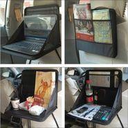 Car Back Seat Travel Meal Tray Laptop Holder Tray Organizer Storage Bag Pocket-AF1647