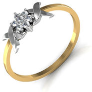 Avsar Real Gold & Swarovski Stone Sikkim Ring_A033yb