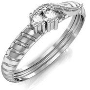 Avsar Real Gold & Swarovski Stone Anjali Ring_A042wb