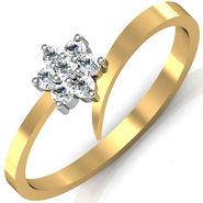 Avsar Real Gold & Swarovski Stone Kokan Ring_A062yb