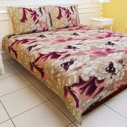 Carah Multi Colored Double Bedsheet With Two Pillow Covers (CRH-DB116).