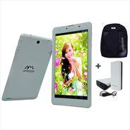 Combo of Ambrane 3G Calling Dual Sim Tablet + Laptop Bagpack + (4000mAh) Power Bank