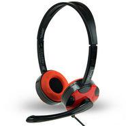 Amkette Truchat Technic Headphones - Black & Red