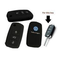 AutoStark Silicon Key Cover for Volkswagen Vento Flip Key Remote Cover