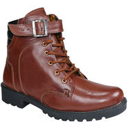 Bacca Bucci Faux Leather  Brown Boots -Bbma2075C