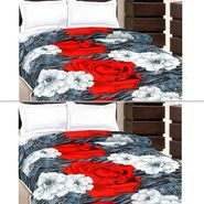 Set of 2 Flower Design Single Bed AC Dohars-BD-1