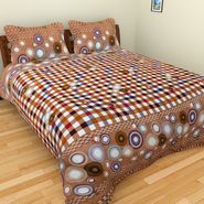 Mangalam Polycotton double Bedsheet  with 2 pillow covers-BD-20