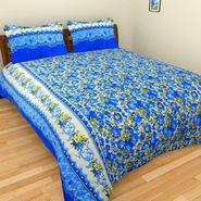 Mangalam Polycotton double Bedsheet  with 2 pillow covers-BD-40