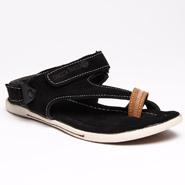 Bacca bucci Leather Sandals - Black-5557