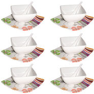 Branded 18Pcs Melamine Soup Set - White
