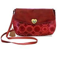 Arpera Genuine Leather Sling Bag C11517-3 -Red