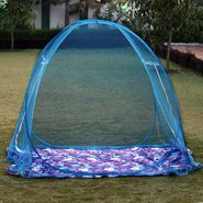 Kawachi Pack of two Double Bed Size Folding Mosquito Net-Blue