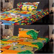 Set of 2 Chota Bheem Kids Single Bedsheet with 2 Pillow Cover-CHFSBD102