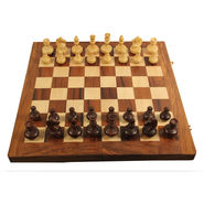AVM 3inch Apple Chessmen (3 inch Border, Brown Yellow)