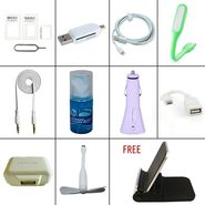 Flashmob Premium iPhone Accessories Combo With Free Stand (11) - Multicolor
