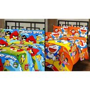 eCraftIndia Set of 2 Designer Printed Single Bed Reversible AC Blanket-COMHFD104