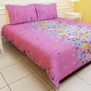 Carah Exclusive Floral  Double Bedsheet With Two Pillow Covers-CRH-DB109