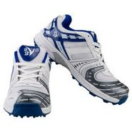 V22 Ultra Cricket Shoes  White & Blue Size - 8