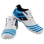 V22 Trax Cricket Shoes White & Blue Size - 3