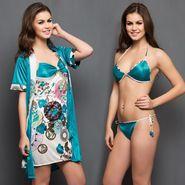 Set Of 4 Clovia Satin Printed Nightwear_NS0312P47