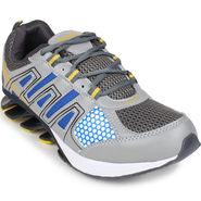 Columbus Grey & Blue & Yellow Sports Shoe C08