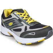 Columbus Mesh White Grey & Lemon Sports Shoes -nsds29