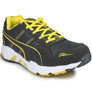 Columbus Mesh White Grey & Lemon Sports Shoes -nsds33