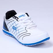 Columbus PU Sports Shoes - White & Blue-1936