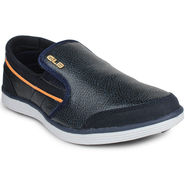 Columbus Synthetic Leather Navy & Orange Casual Shoes -nsds55