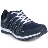 Columbus Mesh White & Blue Sports Shoes -nsds48