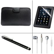 Combo Of Vizio Soft Case + Earphone + 7 inch Tablet screen protector + Stylus pen