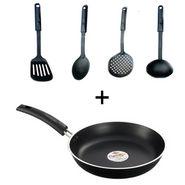 Combo Of Pigeon Kitchen Tool Set Of 4 + Non-Stick Tadka Pan