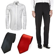 Combo of Royal Son Shirt + Trouser + 2 Tie