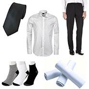 Combo of Royal Son Shirt + Trouser + Tie + 3 Socks + 3 Handkerchief