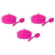 Carnation BPA free Microwavable 9Pcs Casserole Set - Hot Pink