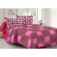 Valtellina 100% Cotton Double Bedsheet with 2 Pillow Cover-6004-B