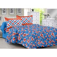 Valtellina 100% Cotton Double Bedsheet with 2 Pillow Cover-3018-A
