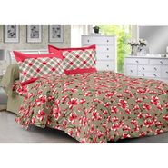 Valtellina 100% Cotton Double Bedsheet with 2 Pillow Cover-3018-B