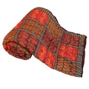 Jaipuri Print Cotton Double Bed Razai Quilt-DLI4DRZ308