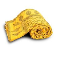 Jaipuri Print Cotton Double Bed Razai Quilt-DLI4DRZ334