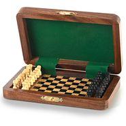 Little India Travellers Mini Chess Board Wooden Handicraft -114