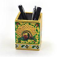 Little India Oxidized Jaipuri Fine Meenakari Work Pen Stand 288