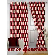 Set of 4 Printed Door curtain-7 feet-DNR_2_3050