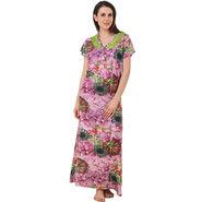 Fasense Shinker Cotton Floral Print Long Nighty -DP186A2