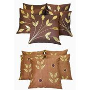 Dekor World Leaf Bonanza Cushion Cover(Pack of 10 Pcs)-DWCB-12-002