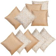 Dekor World Golden Printed Combo. Cushion Cover (Pack of 10)-DWCB-203-12